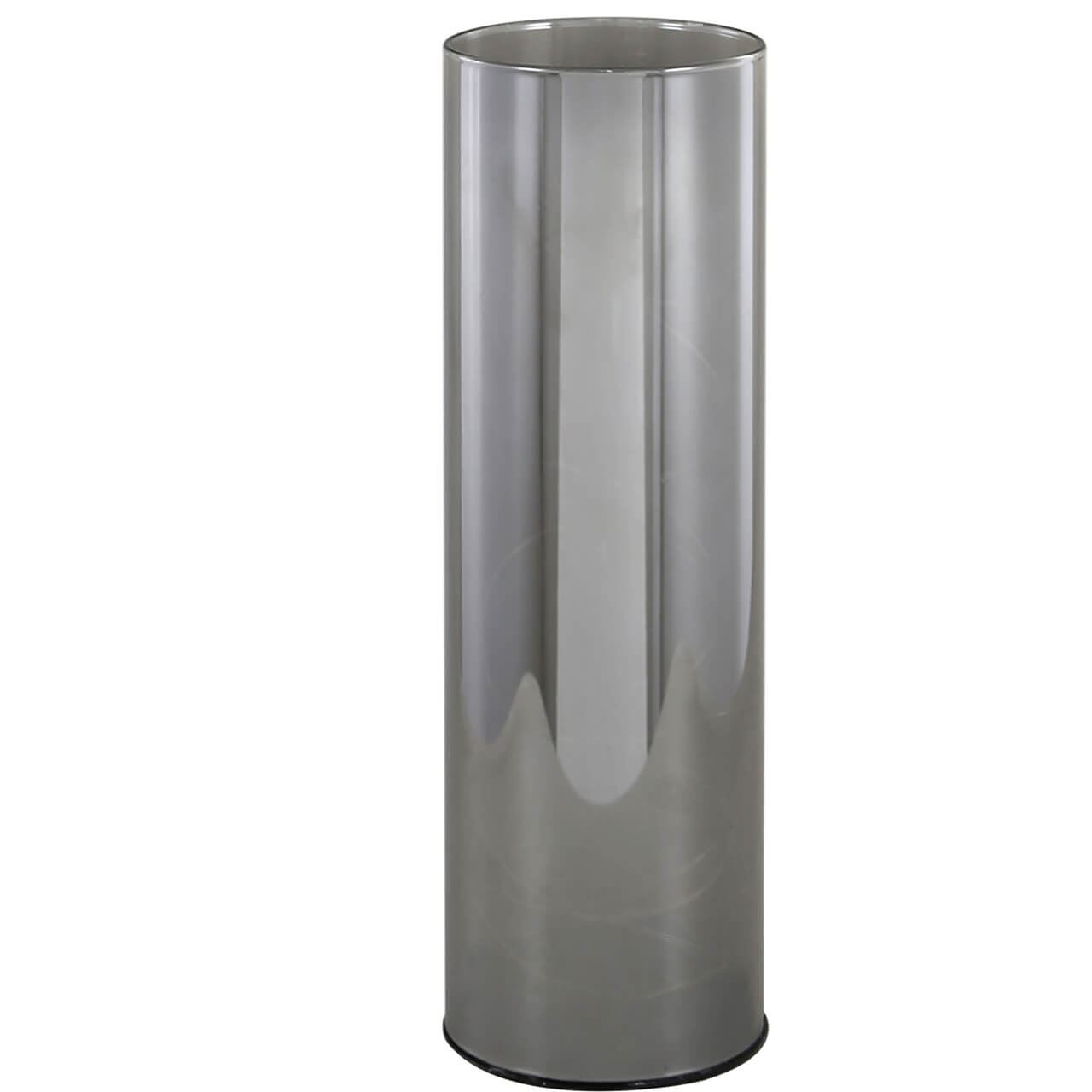 Smoked Large Grey Cylinder Led Decoration