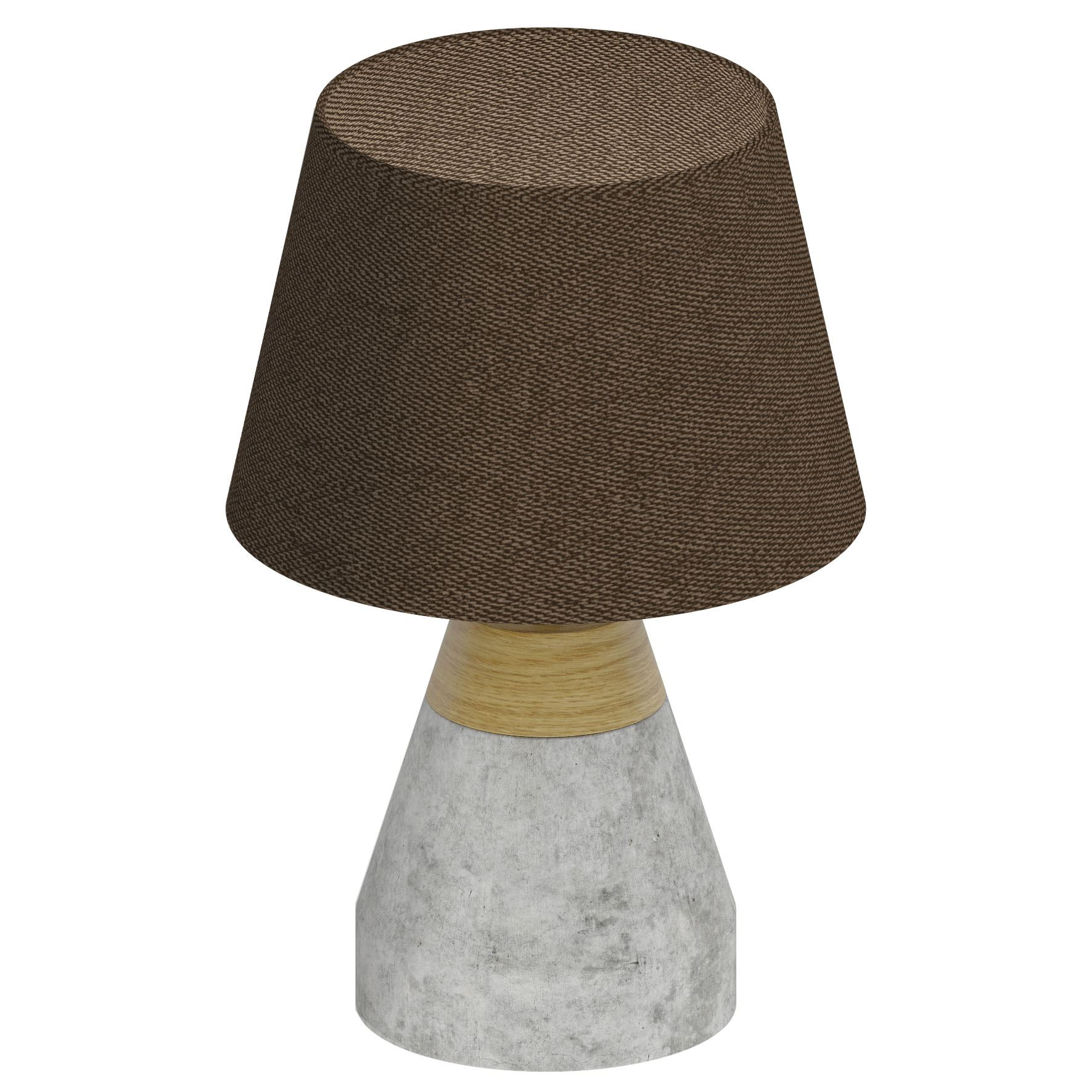 Tarega Table Lamp 1 Light Brown Concrete