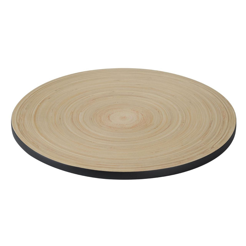 Kyoto Placemat/Trivet,Spun Bamboo,Matt Black