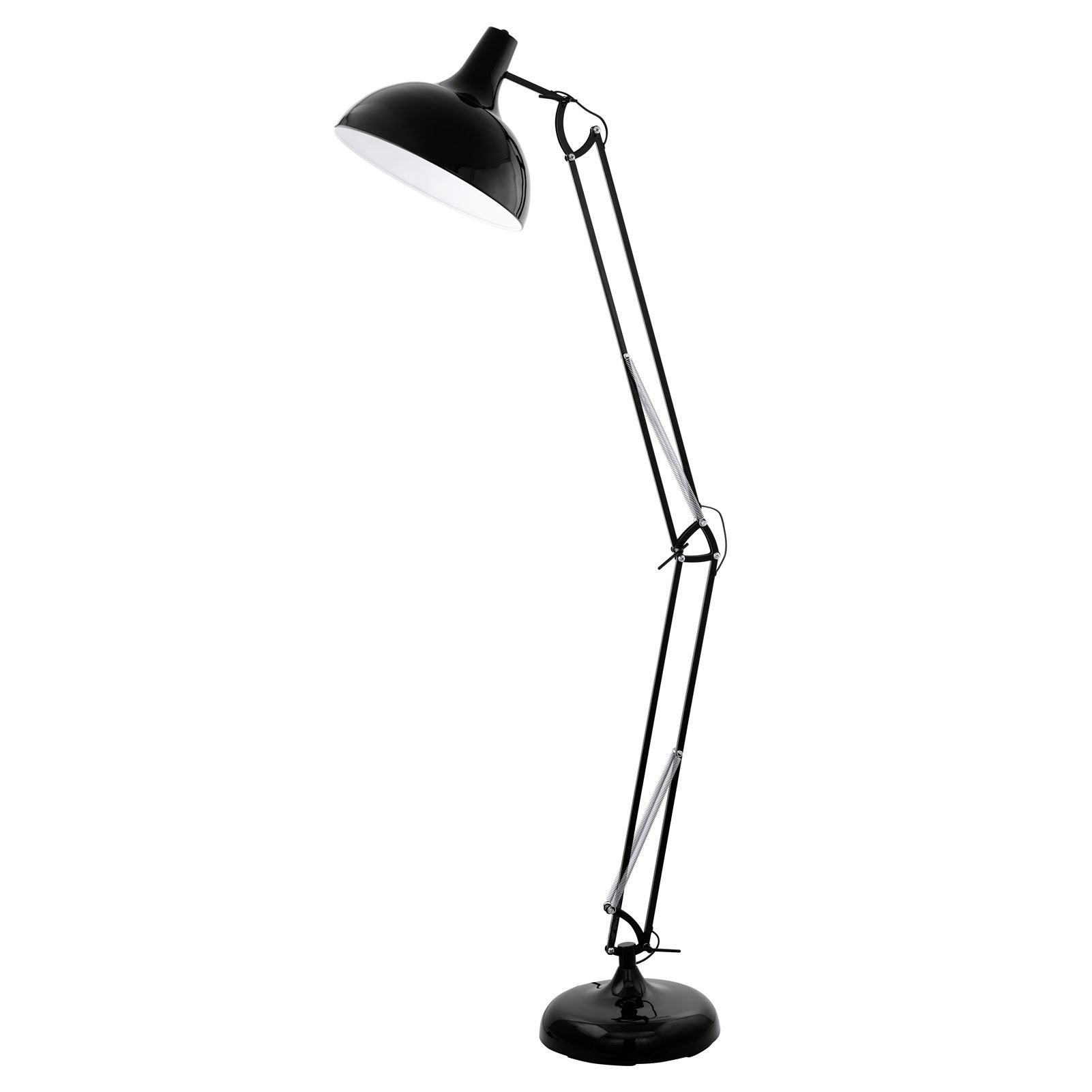 Borgillio Steel 1 Light Black E27
