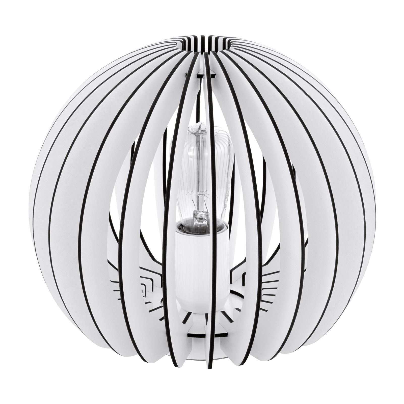 Cossano Table Lamp 1 Light E27 Steel White Base - Home Decor