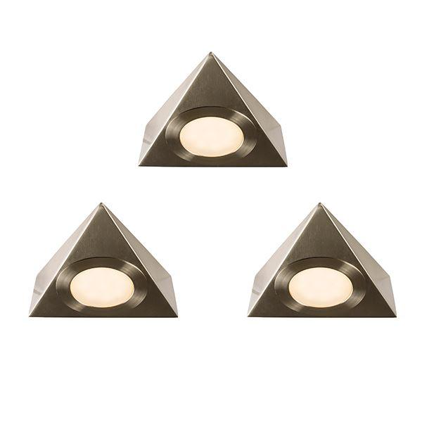 Nyx Cct Kit 2.5W Warm White Cabinet Light Satin Nickel Plate