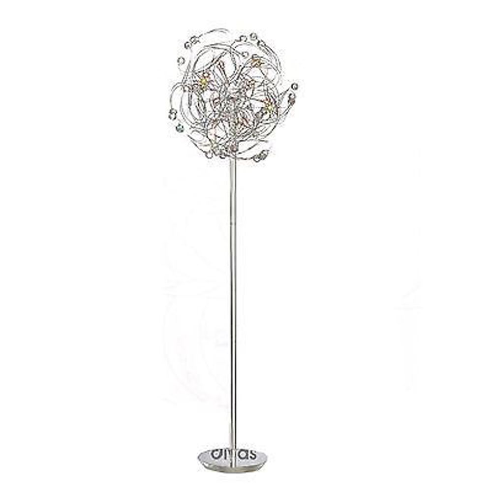 Messe Floor Lamp 12 Light Polished Chrome/Crystal