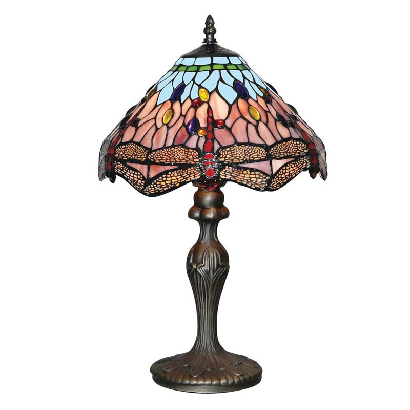 Classic Dragonfly Tiffany Antique Brass Table Lamp