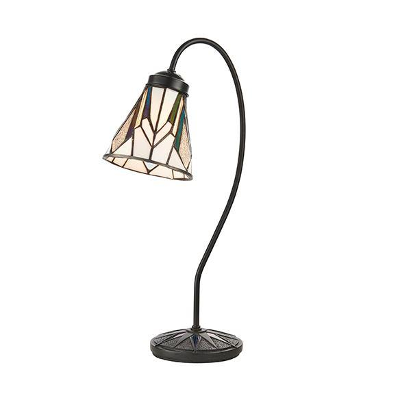 Astoria Tiffany Style Swan Neck Design Table Lamp 40W