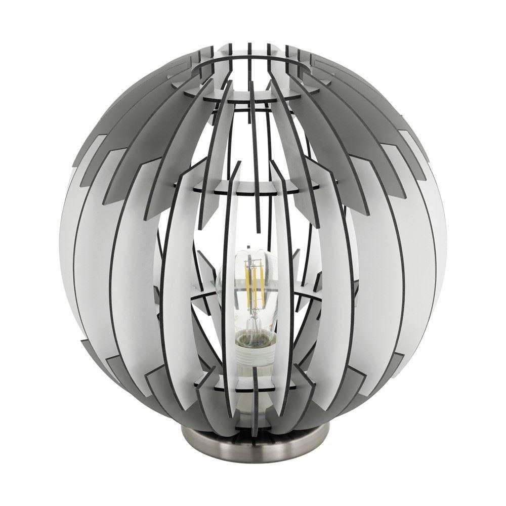 Olmero Grey/White Table Lamp Steel/Wood