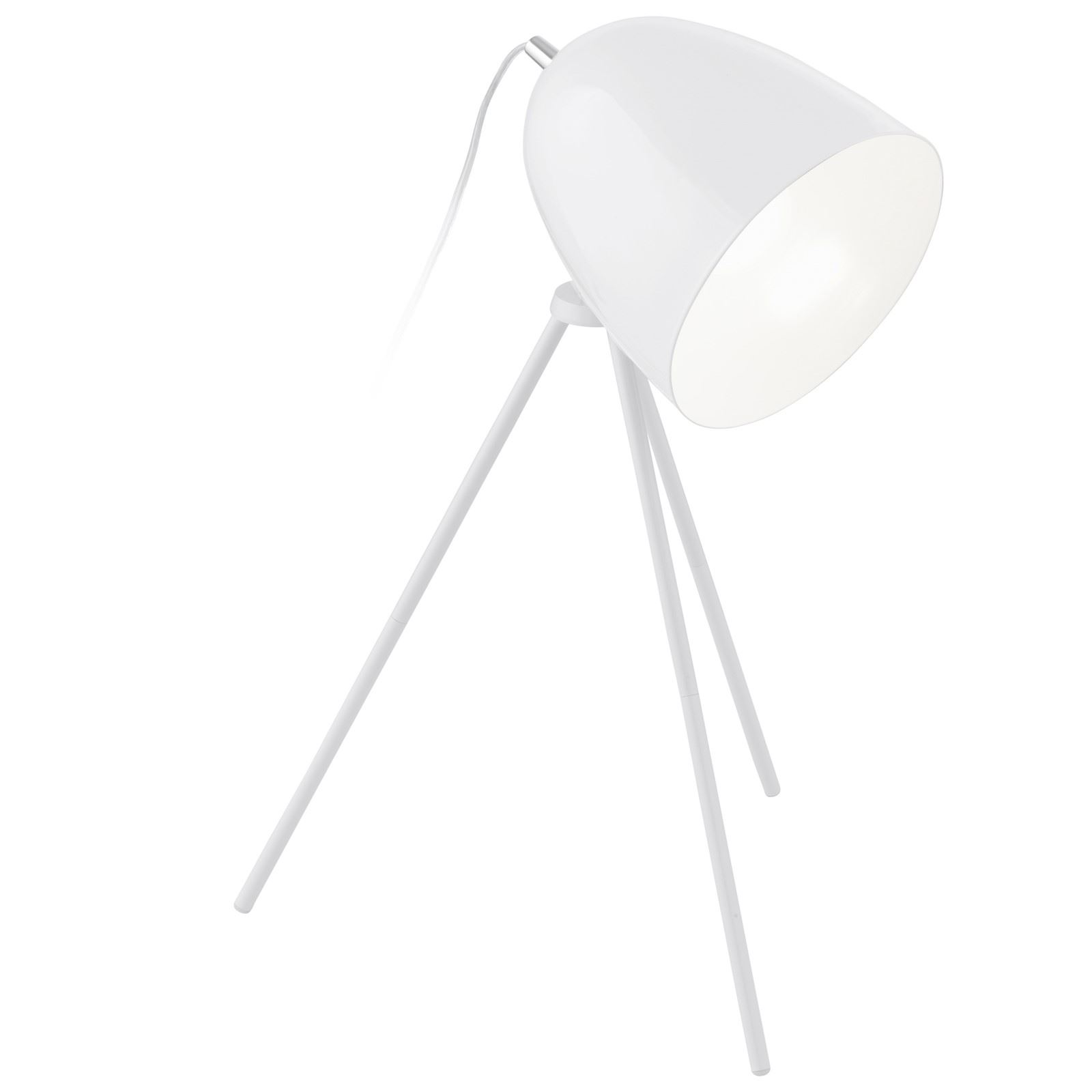 Don Diego Stylish Table Lamp 1 Light E27 White, Chrome Finish