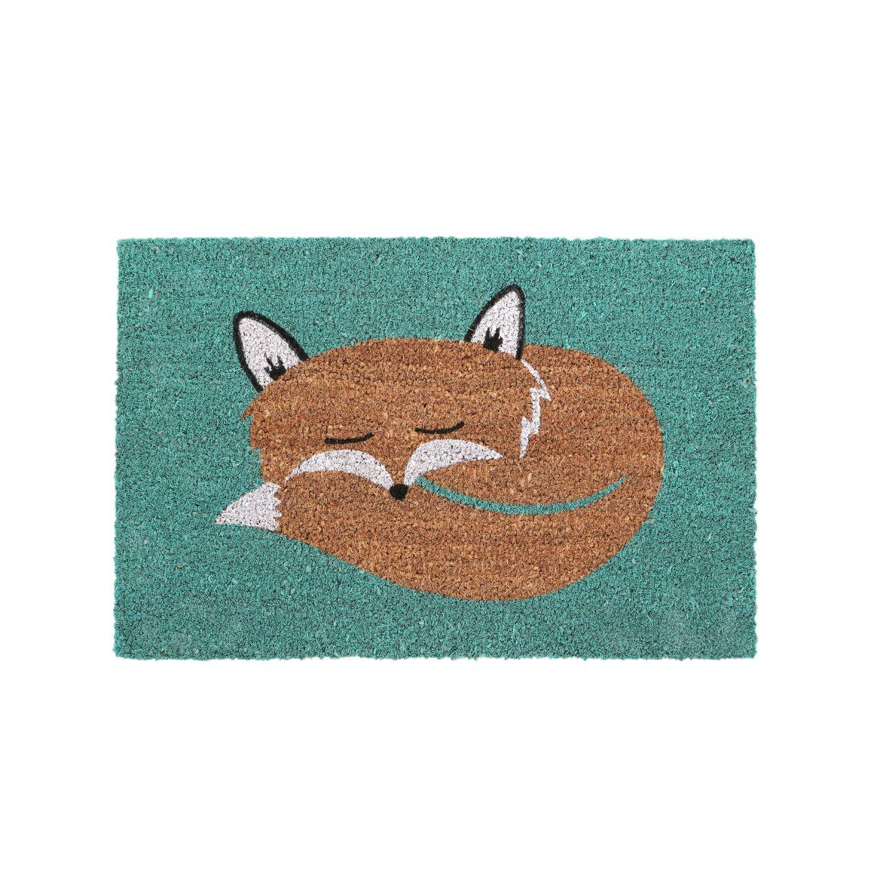 Fox Doormat,Pvc Backed Coir