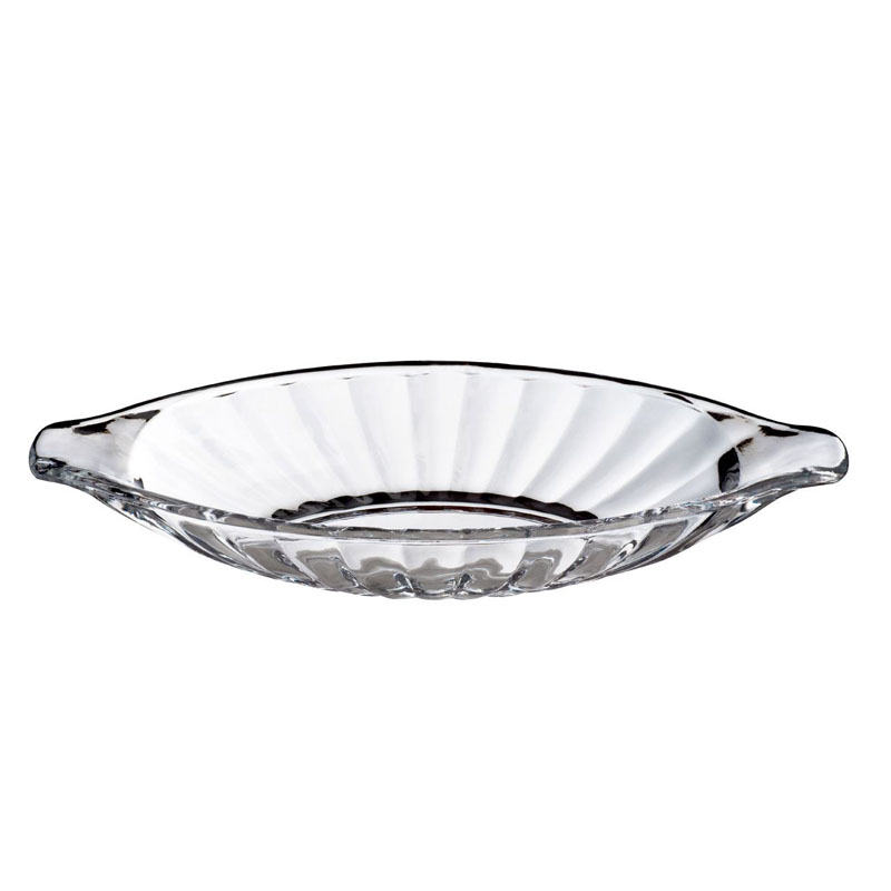Set of 2 Banana Split Dishes,Clear Glasses