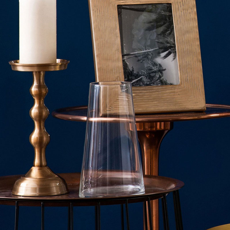 Sleek Design Vase,Clear Glass