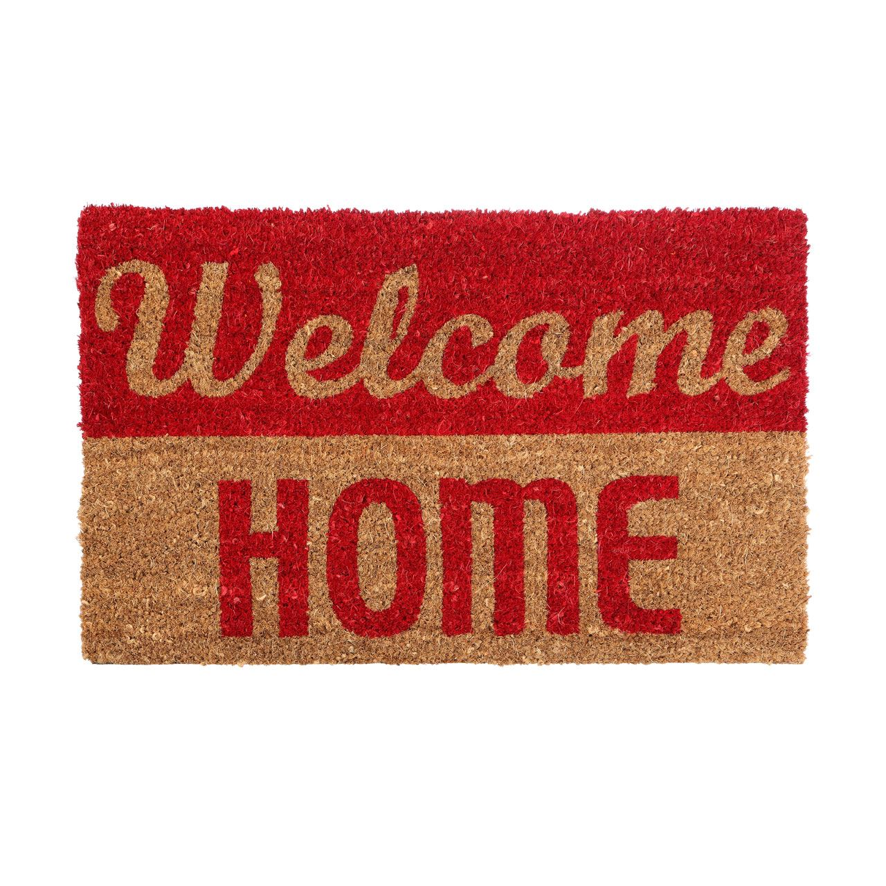 Welcome Home Doormat, Durable, Poly Vinyl Chloride Backed Coir