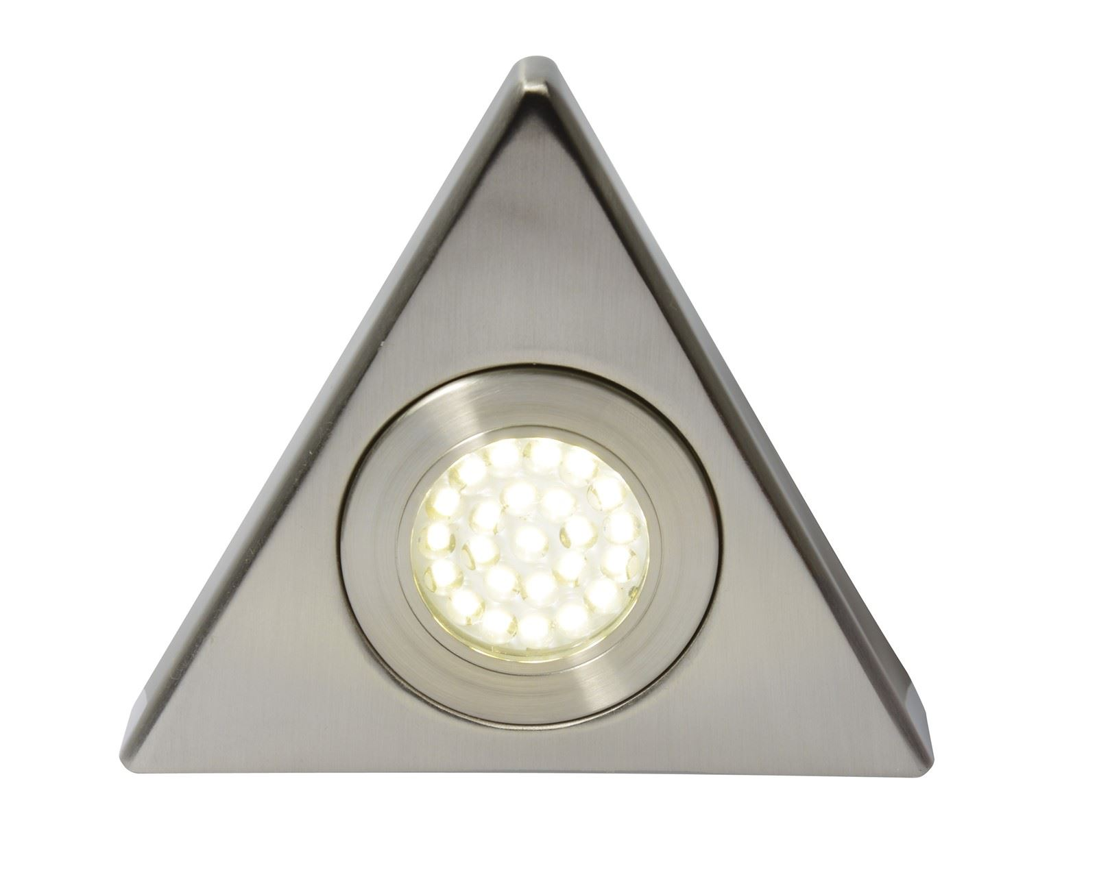 Fonte Led, Mains Voltage, Triangular Cabinet Light, 3000K Warm White