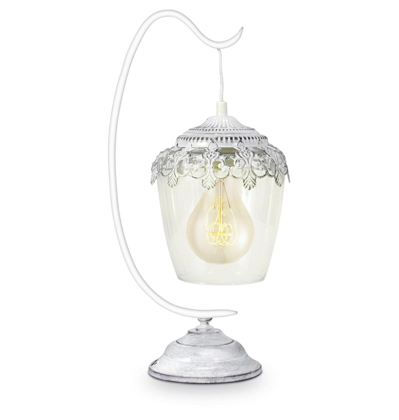 Sudbury Decorative Table Lamp 1 Light E27 White Patina