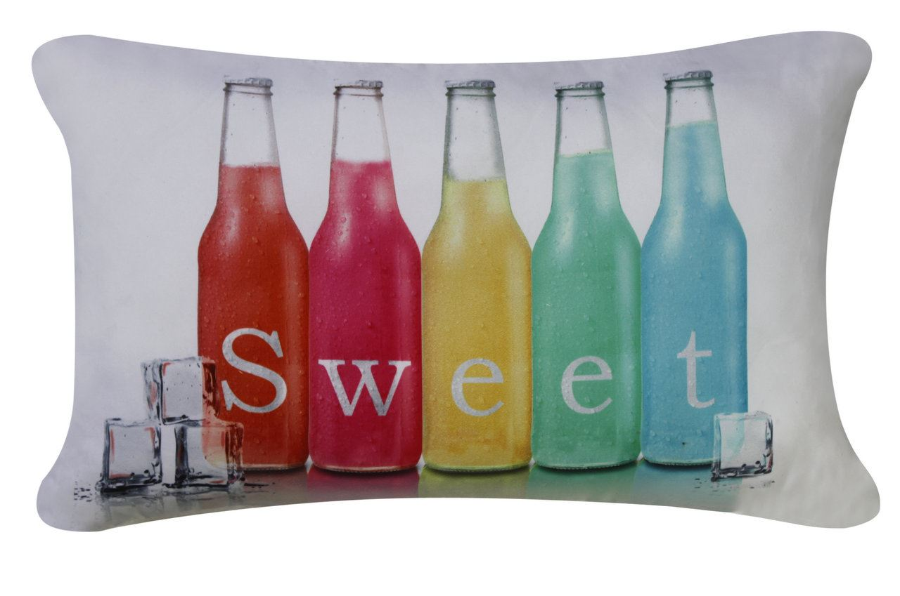 Sweet Bottles Cushion White And Colored Living Room Decor