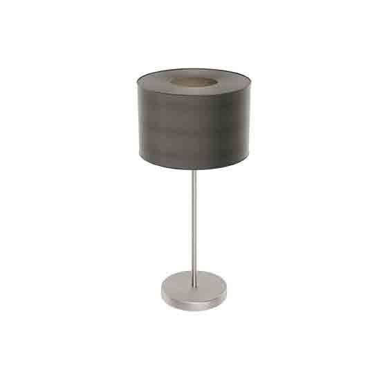 Romao Led-Table Lamp Steel Chrome Touchdimmer Brown Shade