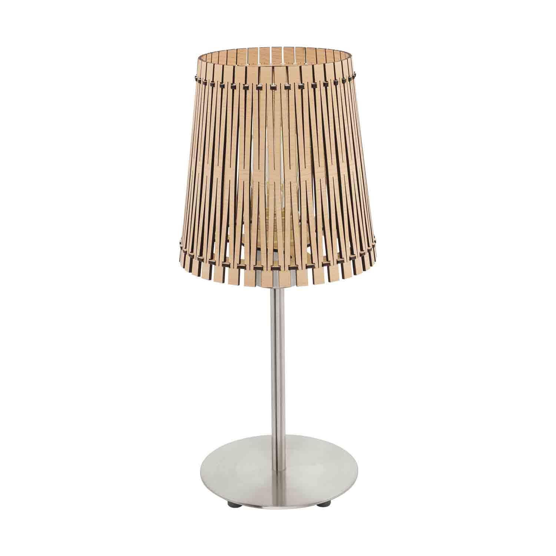 Sendero Modern Table Lamp 1 Light E27 Maple Wood Shade