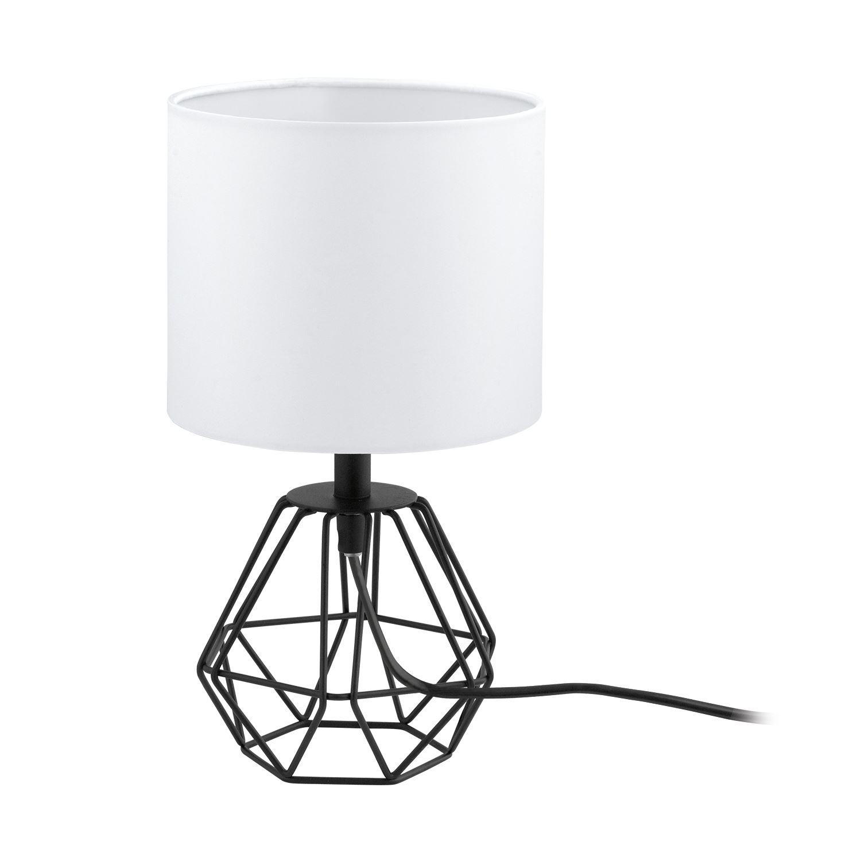 Carlton Table Lamp 1 Light Black White