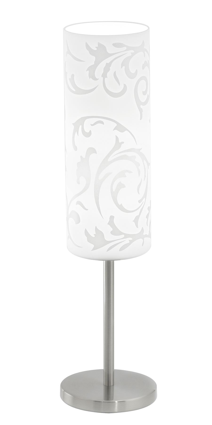 Amadora Table Lamp 1 Light Printed Glass Shade - White