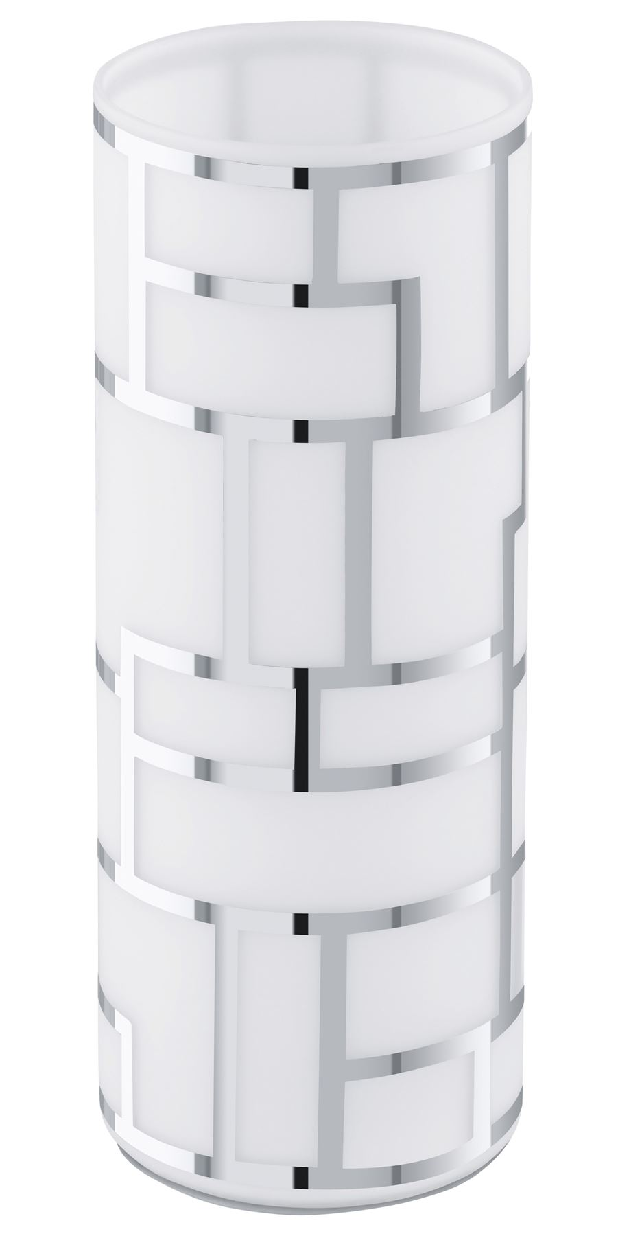 Bayman Table Lamp 1 Light Decorative Glass Shade In White