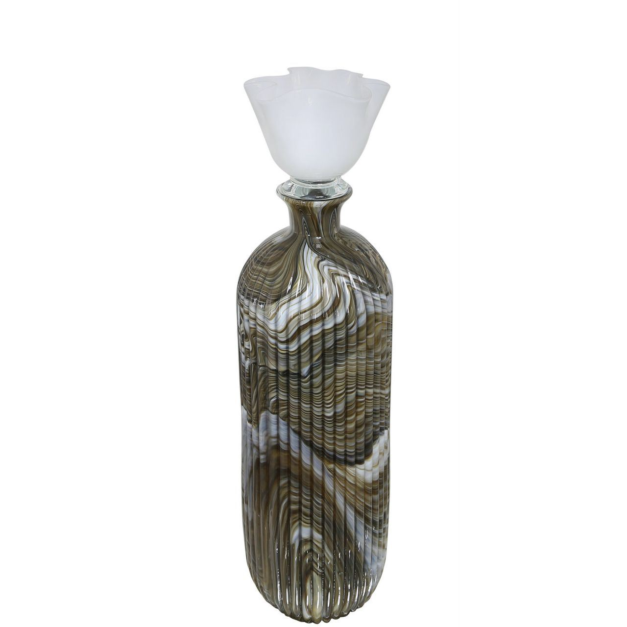 54.5cm Glass Bottle With Lid