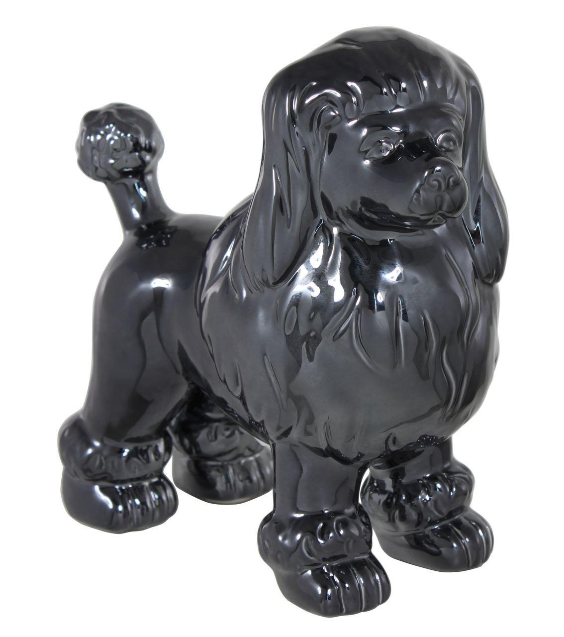 20.5cm Poodle Decoration Dark Sculpture Home Decor