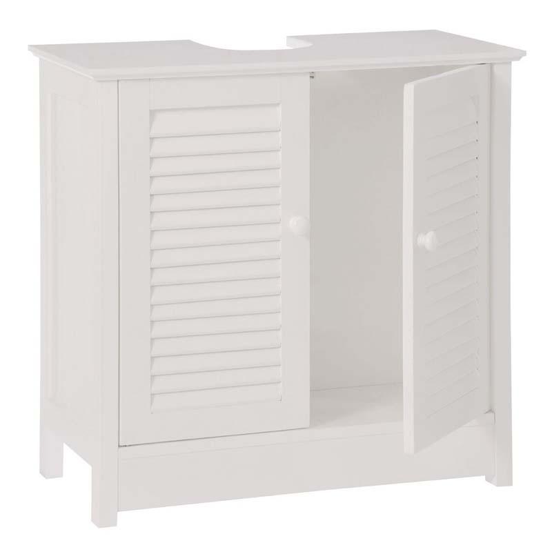 Under Sink Bathroom Cabinet,White Wood