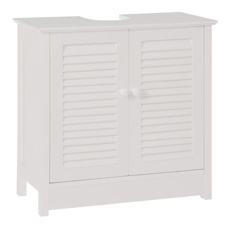 Under Sink Bathroom Cabinet,White Wood