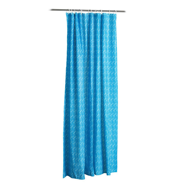 Shower Curtain,Blue,With Hooks