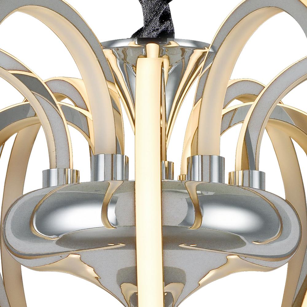 White Versailles LED 9 Light Iron Ceiling Pendant For Living Room