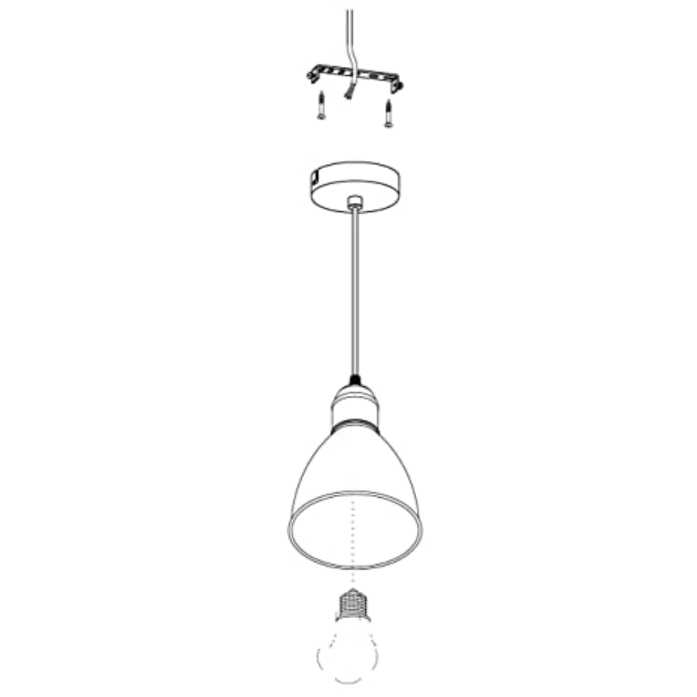 1 LED Bell Shape Ceiling Pendant Light In Black Cord Wire With Cast Aluminum Finish & Contemporary Style - Dining Room