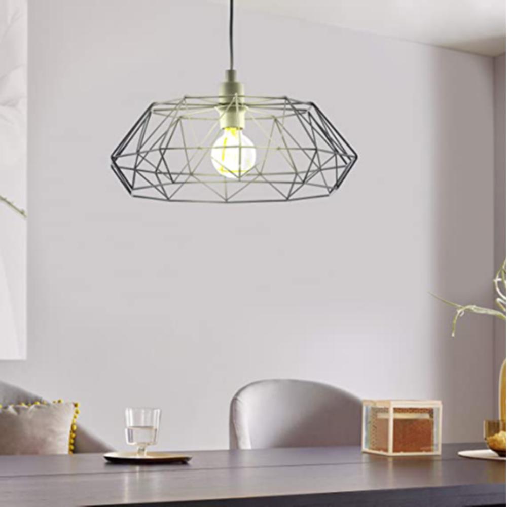 1 Halogen Bulb Black Steel Ceiling Pendant Light With Star Shape, Vintage/Retro Style For Dining Room