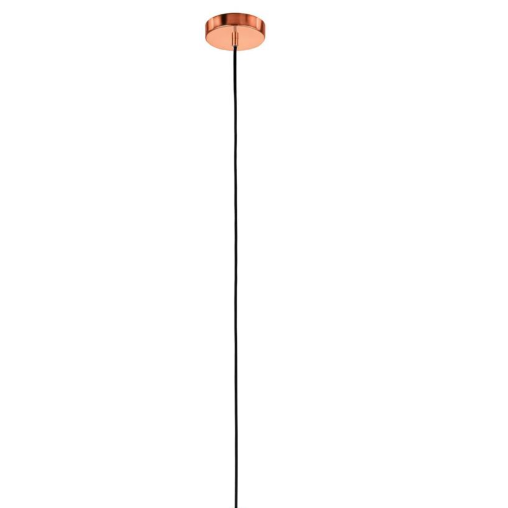 1 LED Bulb Rose Shape Cage Ceiling Pendant Light In Steel Copper Finish With Braided Style Ideal For Dining Room