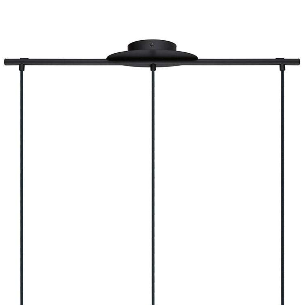 Tarbes Hanging Pendant Light 3Xe27 Black