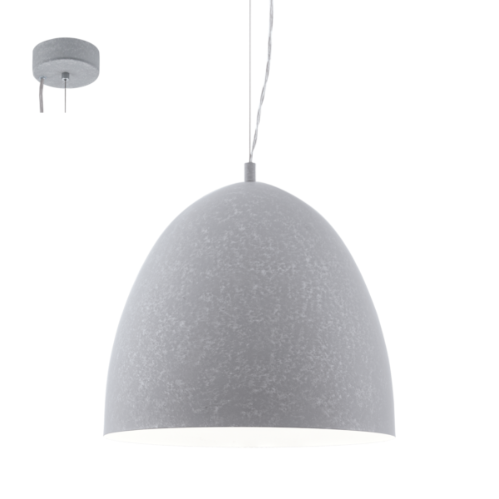 1 LED Steel Ceiling Pendant Light In Grey Finish With Dome Shape and Fun & Curiosity Style Ideal For Bedroom