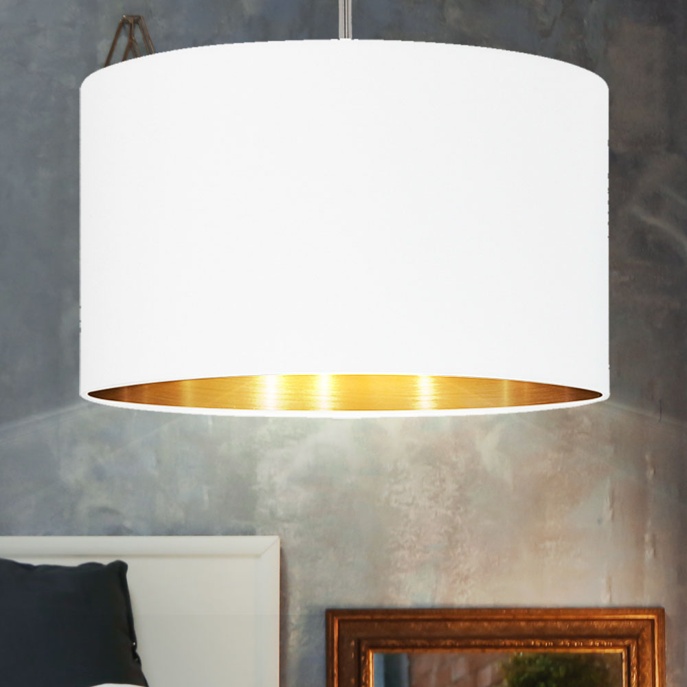 1 LED Bulb White Copper Ceiling Pendant Light In Satin Nickel Finish With Vintage/Retro Style & Round Shape For Bedroom