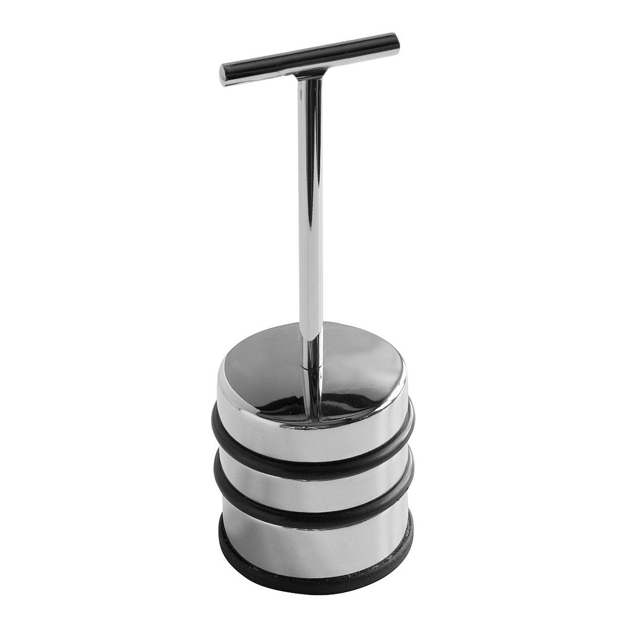 Door Stopper,Chrome With Handle,Protective Rubber Bands