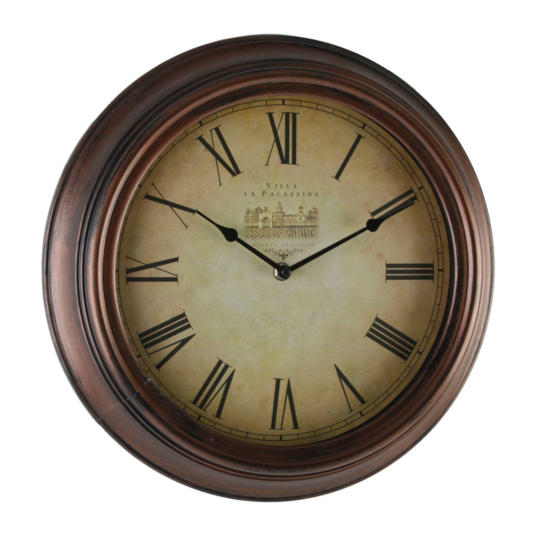 Hometime Wall Clock Antique Case 35cm Creamm Roman Dial