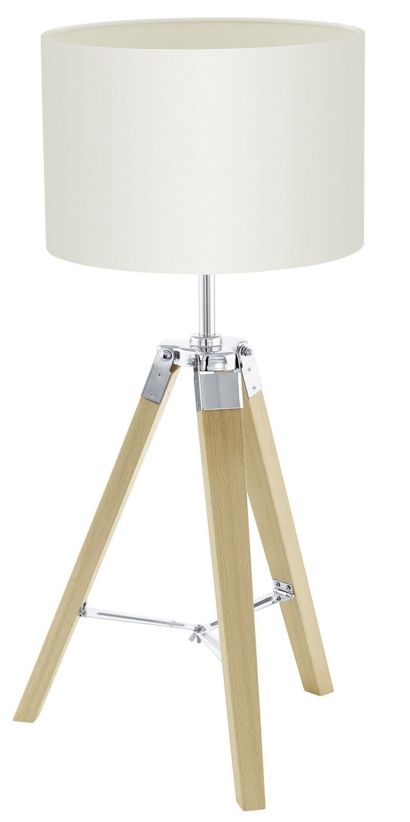 Lantada Modern Table Lamp 1 Light Natural Fabric Beige Shade