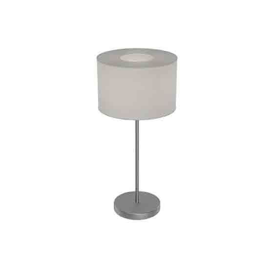 Romao Led-Table Lamp Touchdimmer Fabric, Linen Grey Shade