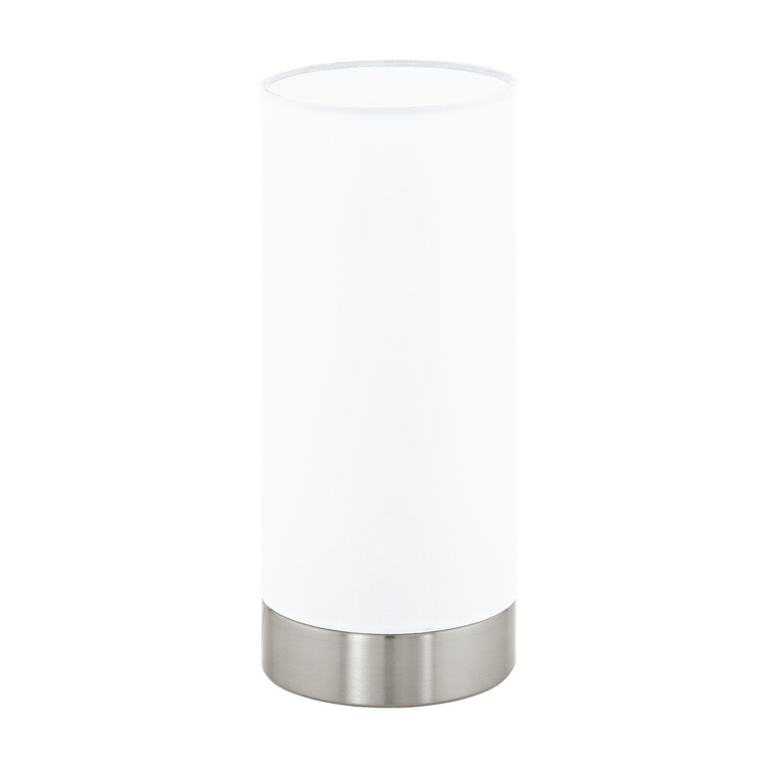 Damasco Table Lamp 1 Light E27 Satinated Glass Satin Nickel