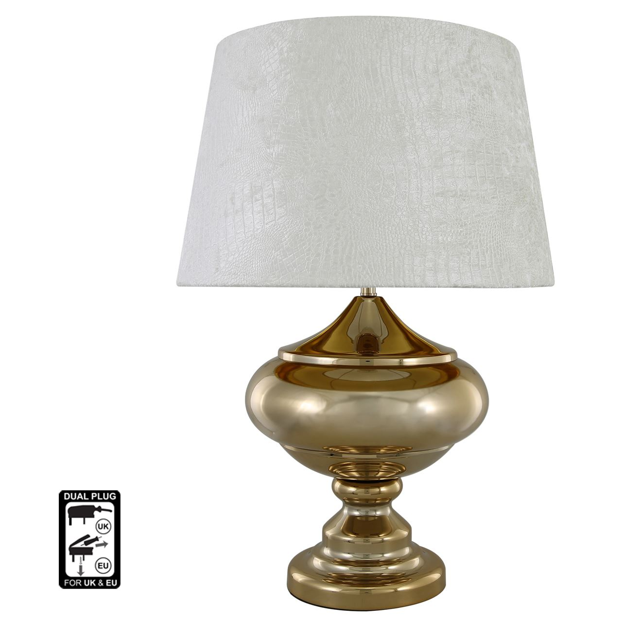 Arabian Nights Oval Table Lamp-Ivory