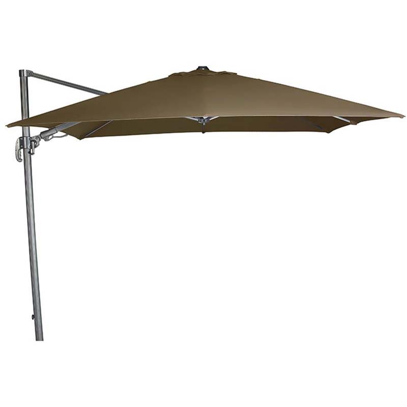 Falcon T2 2.7m Square Taupe Parasol, Base Not Included