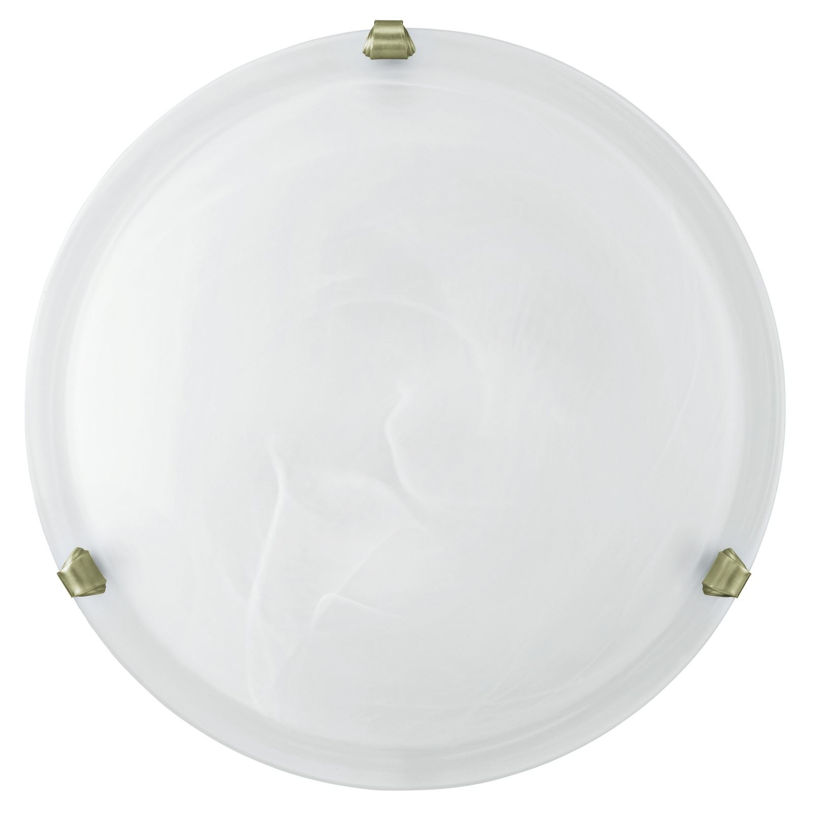 Salome White Glass Wall Ceiling Light With Steel Bronzed Clips