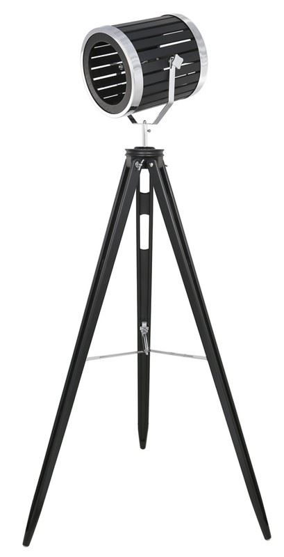 Black Wood Hollywood Tripod Tripod Director Tall Floor Lamps