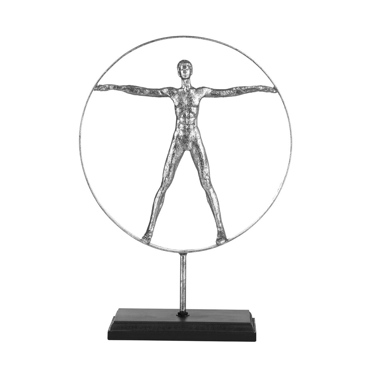 Man Sculpture,Silver,On Stand