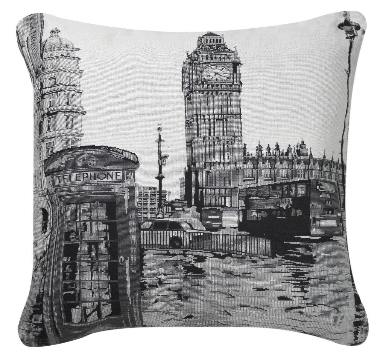 Black And White London Cushion Landmark Design