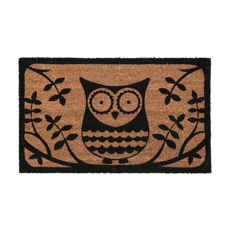 Owl Doormat,Pvc Backed Coir