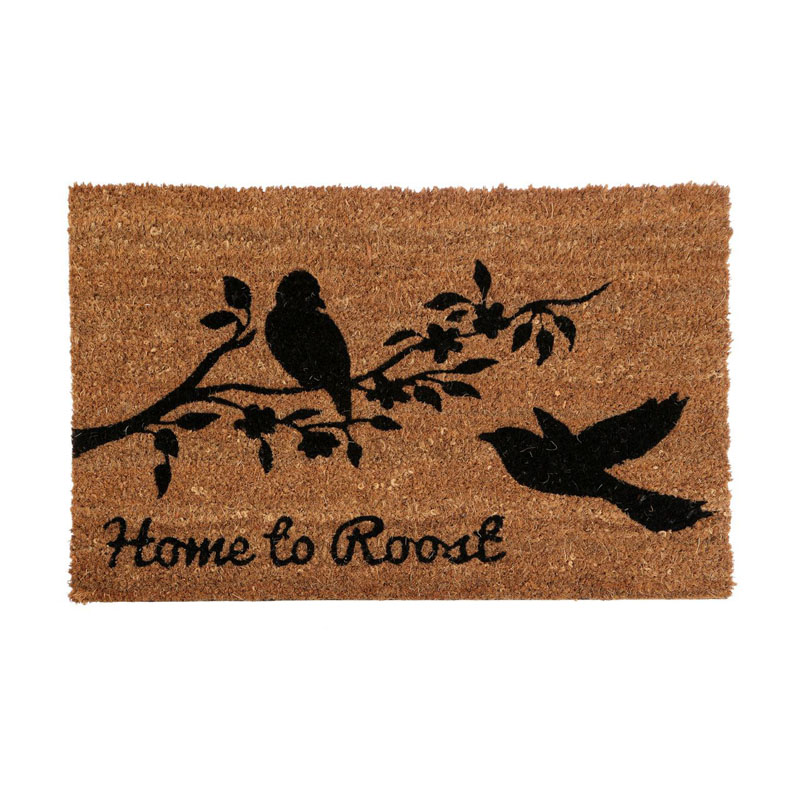 Home To Roost Doormat,Pvc Backed Coir