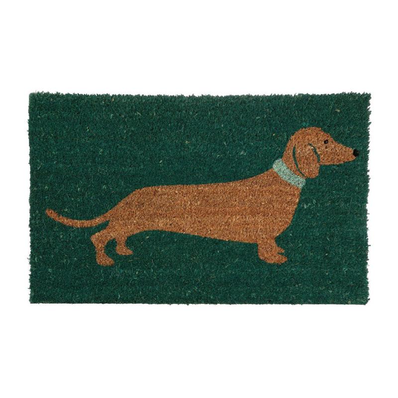 Sausage Dog Doormat,Pvc Backed Coir