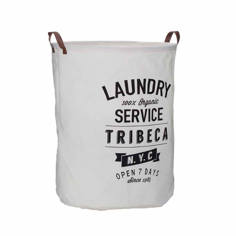 Tribeca Laundry Bag,Polyester/Cotton/Rayon,Natural/Black